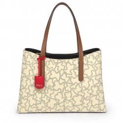 Shopping Grande Kaos Icon Multi Beige - Rojo 095891591