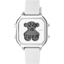 Reloj TOUS D-BEAR TEEN SQUARE SS SILICONA BLANCA 100350380