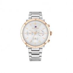 Reloj Tommy Hilfiger Emery Mujer Plateado y Rosado Multifunción 1782348