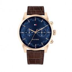 Reloj Tommy Hilfiger Sawyer Hombre Marrón Azul y Dorado Multifunción 1710423