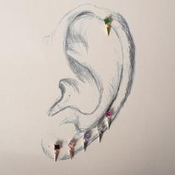 Piercings acero y plata